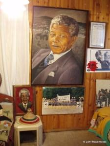 Mandela paraphernalia in Mandela's house Soweto