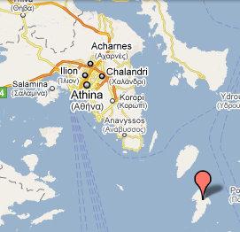 kythnos map