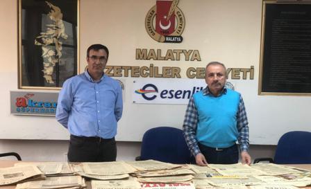 Avni Gebeş'in Gazete Arşivi MGC'ne Gönderildi