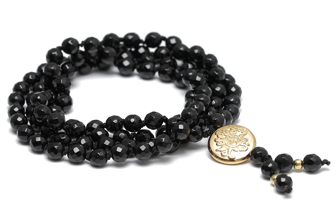 Mala Onyx Gold Yoga Kette Onyx Meditationskette Onyx