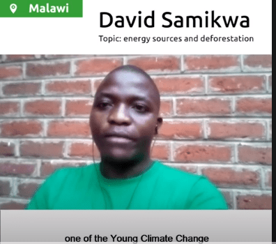#COP26Voices, David Shares his thoughts on Climate Change.