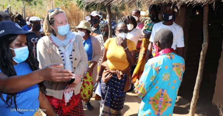 UK Government official visit celebrates Malawi climate project which has recently had funding cut