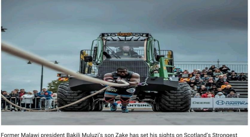 Zake Muluzi braces up for Scottish Strongman Competition