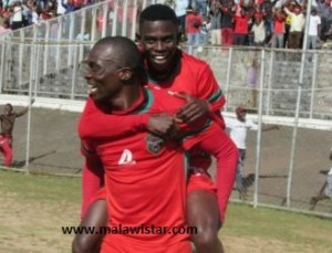 Msowoya celebrating after his goal