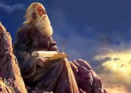 Apostle John on Isle of Patmos