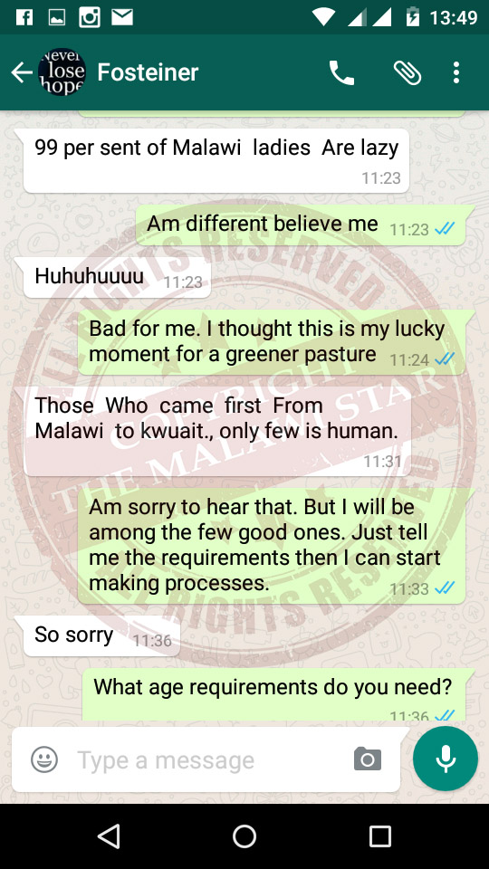 EXCLUSIVE: Malawian Girl Sold into Slavery in Kuwait Comes