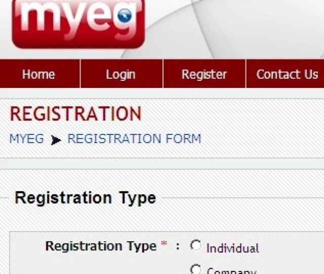 Myeg Malaysia Eservices How To Register Free Account Online
