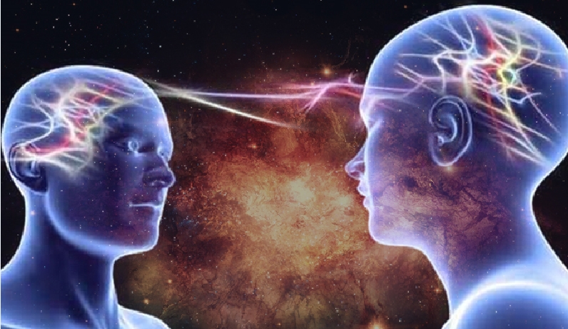 Telepathy is the only mode of communication at the higher dimension.