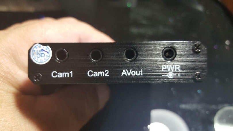 The back interface of the device.