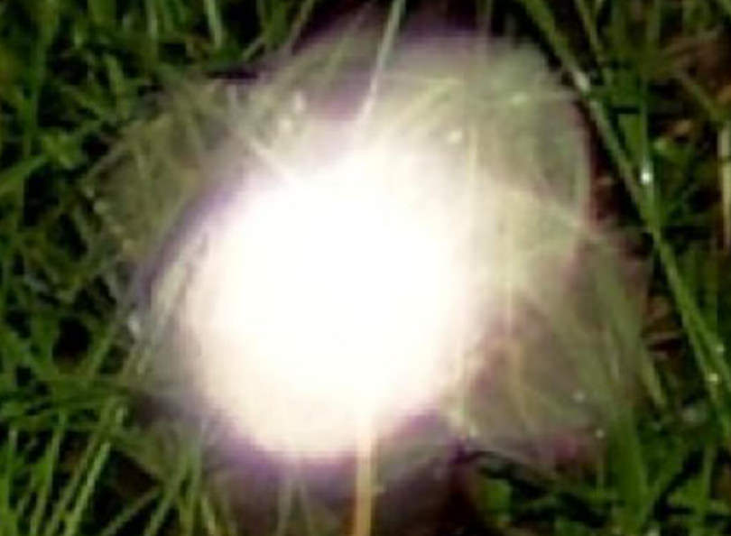 zoomed glowing ghost orb