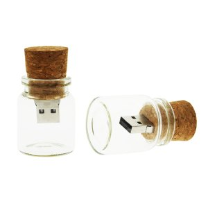 CY04 Wooden Cork Bottle USB Flash Drive