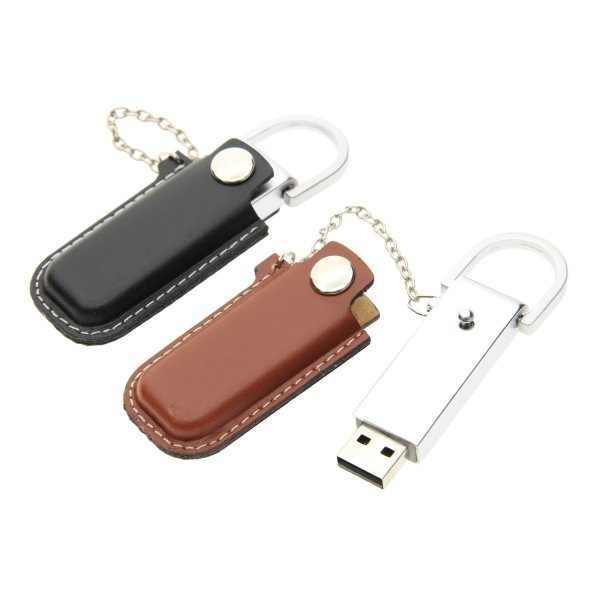 L003 Leather with Sleeve USB Flash Drive