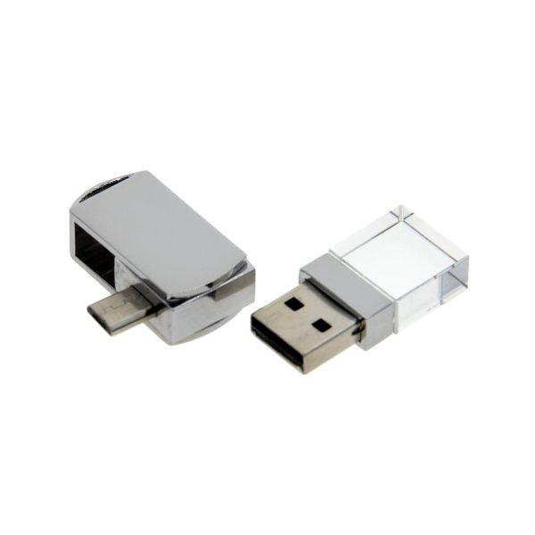 OT05 Crystal OTG Swivel USB Flash Drive