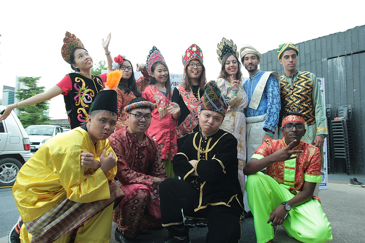 Locals and Tourists Trying Traditional Costumes