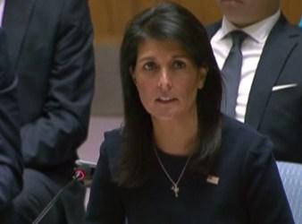 Nikki Haley the US ambassador to the United Nations