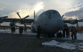 RMAF carrier aircraft C130 Hercules made an emergency landing at Labuan International Airport following its landing gear problem.