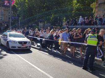 a car blow into crowd