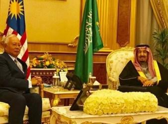 najib Razak meets Saudi Arabia King2