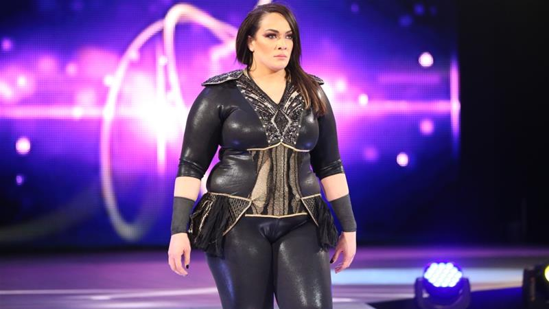Nia Jax says she decided to become a wrestler after watching her cousin The Rock perform live Courtesy WWE