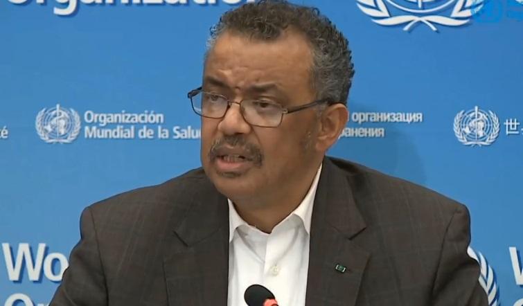 the World Health Organisation WHO director general Dr Tedros Adhanom Ghebreyesus.2