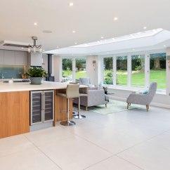 Kitchen Lanterns White Granite Countertops Conservatories Orangeries Roof Hardwood Purpose Built Extension With Lantern Surrey
