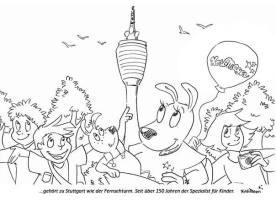 malvorlage fernsehturm stuttgart   Coloring and Malvorlagan