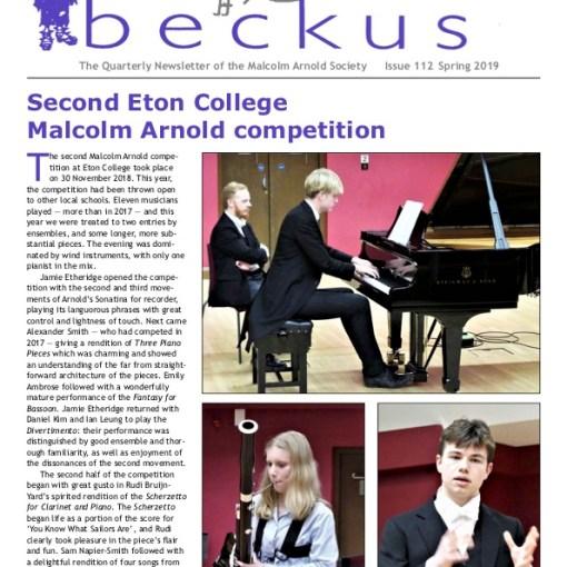 Beckus 112 Malcolm Arnold Society