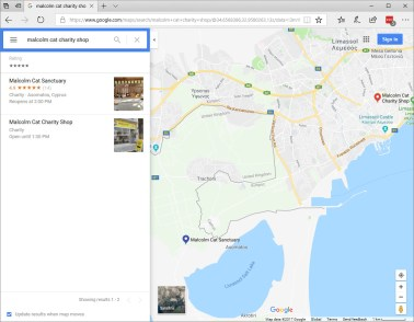 MCPS charity shop on Google Maps
