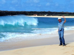 Long beach on Ascension Island