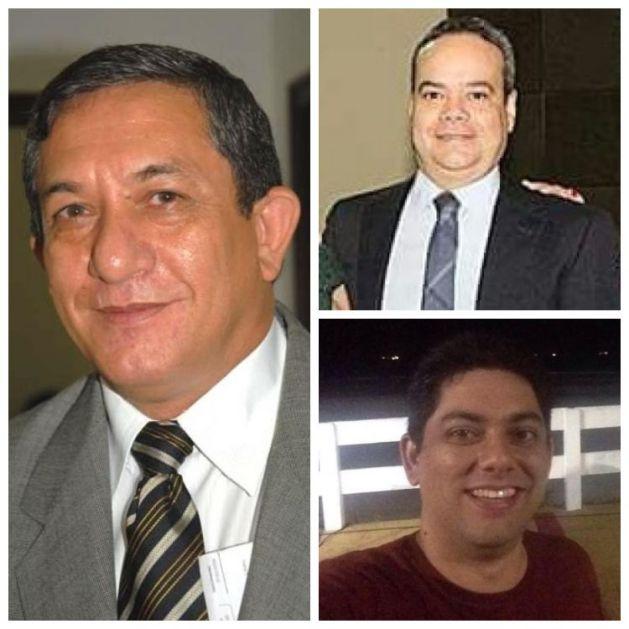 Juiz Sebastião Bonfim à esquerda (membro do TRE-MA), Fernando Antonio, de terno preto (dono do escritório) e Joabe Bonfim (sobrinho do Juiz e sócio-quotista da empresa)