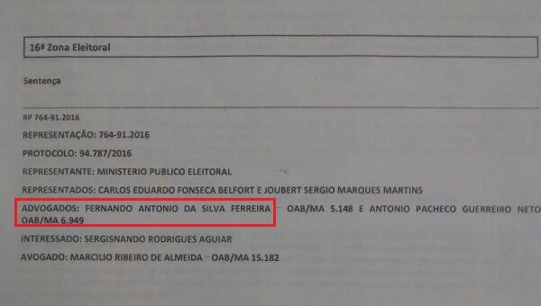 Sócio de Fernando Ferreira é sobrinho de Juiz que vai julgar a ação.