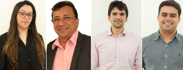 Anna Cibelle (Chefe de Gabinete), Louremar Fernandes (Sec. de Comunicação), Emilio do Rego (Controladoria) e Marcelo Almeida (Diretor do Saae)