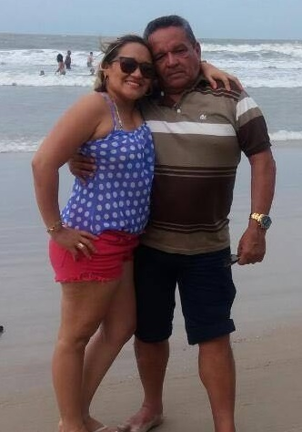 Presidente da Colônia de Pescadores, Zé Lauro, ao lado da filha, vereadora Regina Vaz.