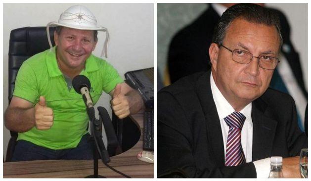 Hoje desafetos, Manoel Michel e Luis Fernando travam queda de braço.