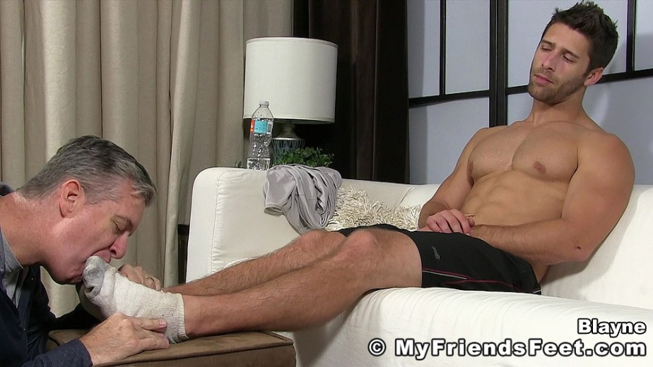 Blayne's dirty white socks get worshipped for My Friends Feet