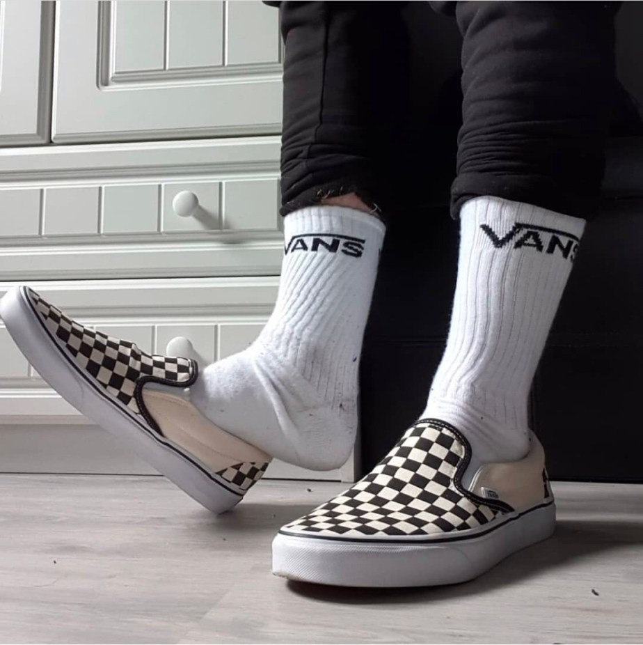 Vans_swagger's size 11 Vans socks and checkerboard slip on sneakers