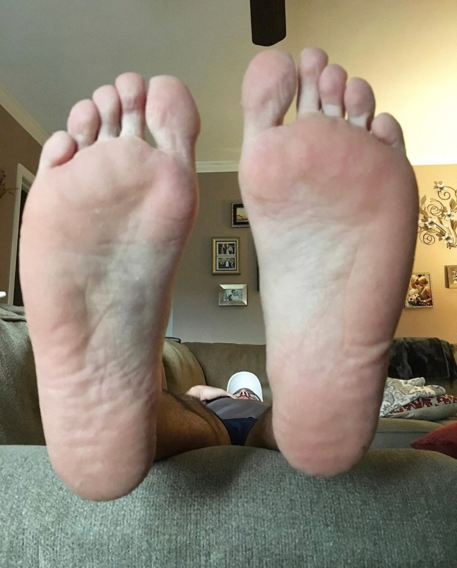 Tommy puts his size 15 soles up for officialcaseycooper