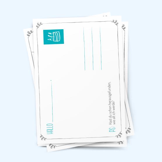 postkarte einladung geburtstag - vorlagen, Einladungen