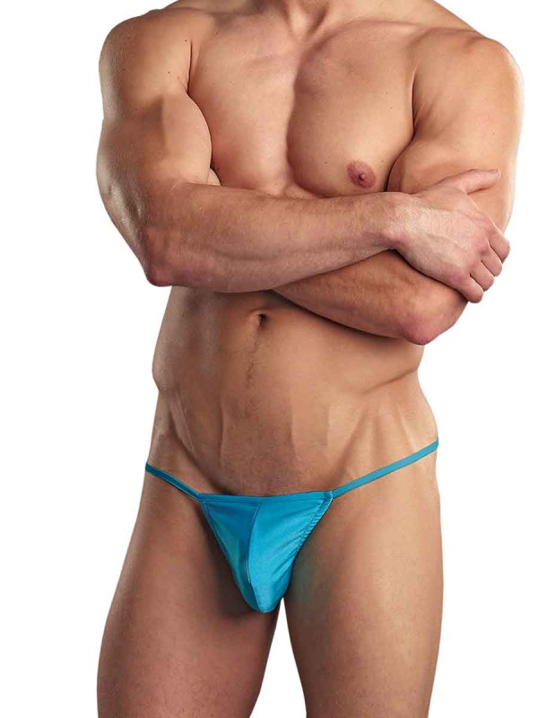 Euro Male Spandex Pouch G-String Turquoise