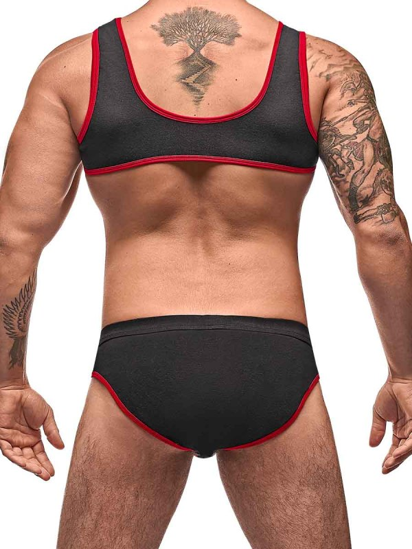 Cotton Spandex Mini Tank Bikini Set mens sexy lingerie underwear