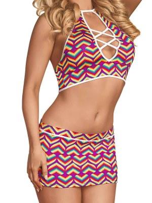 LGBT Pride Halter Skirt Set