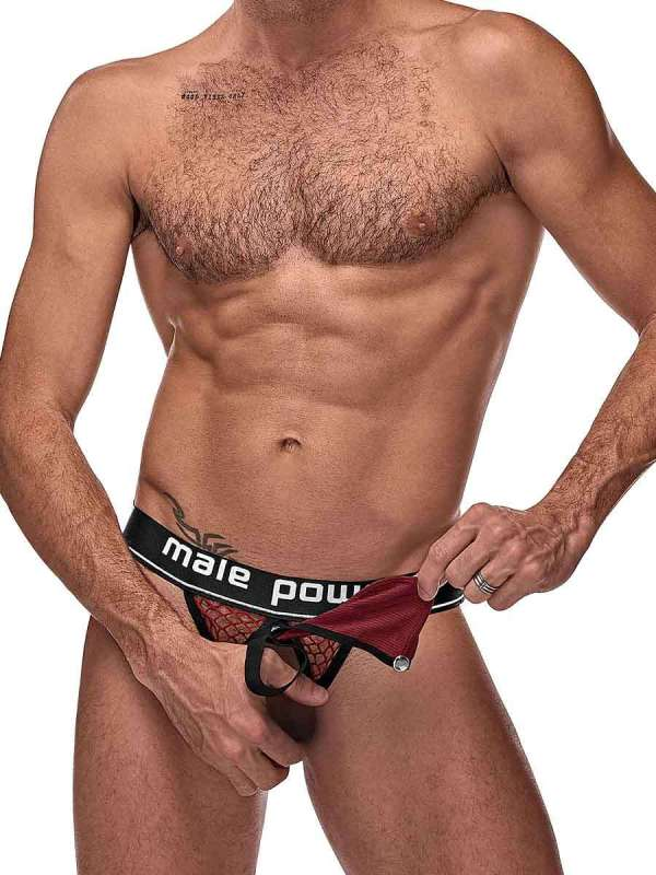 mens erotic sheer red lingerie underwear