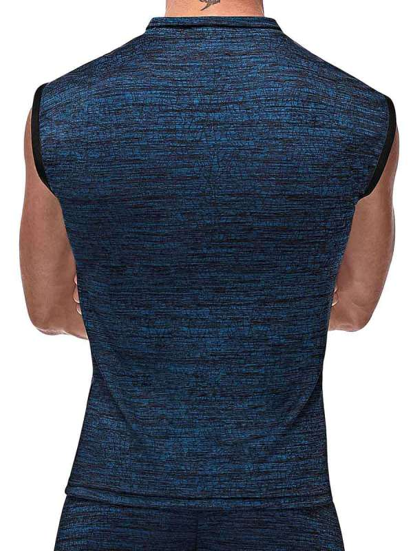 mens navy workout muscle tank top