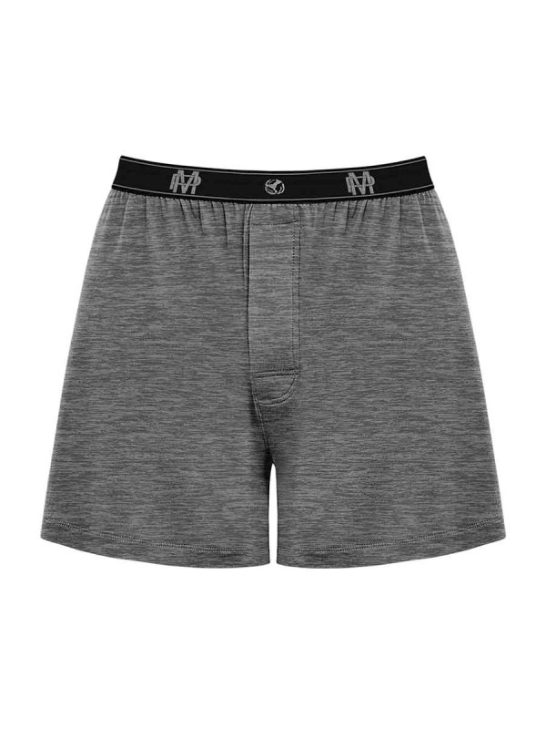 Bamboo Boxer Grey mens sexy lingerie underwear