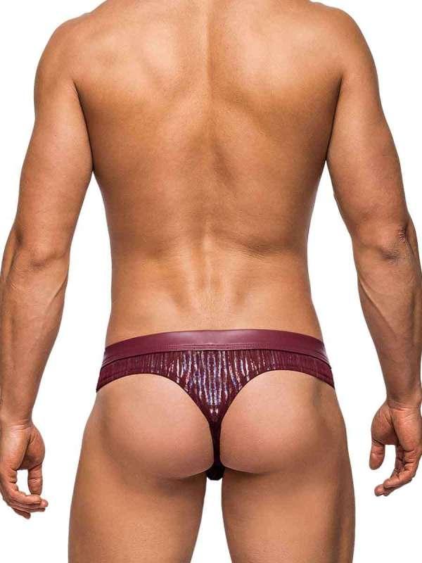 Dazzle Thong Burgundy mens sexy lingerie underwear
