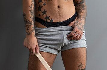 Sexy black thong
