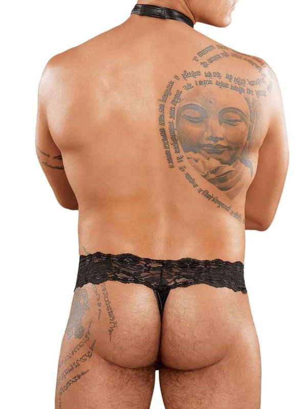 Scandal Lace Choker Thong