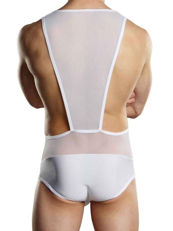 Sheer Spandex Singlet White