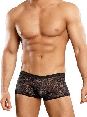 Stretch Lace Mini Short Black