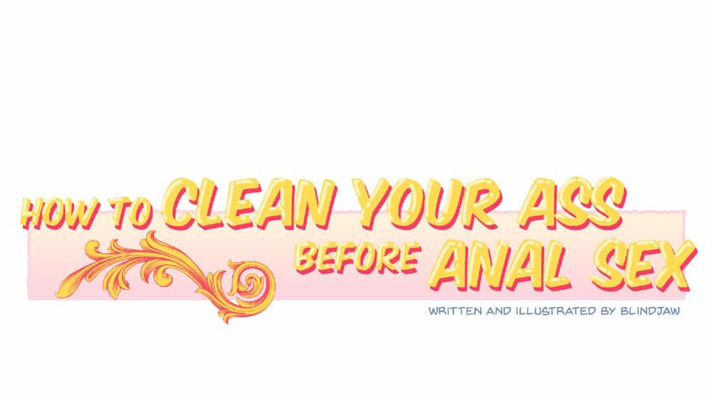 how to clean ass for anal